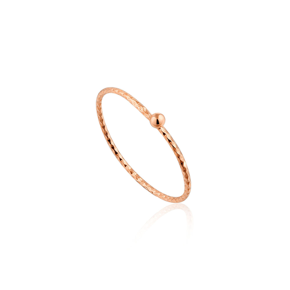 Rose Gold Texture Small Ball Ring