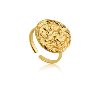 Gold Boreas Adjustable Ring