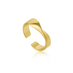 Gold Helix Adjustable Ring