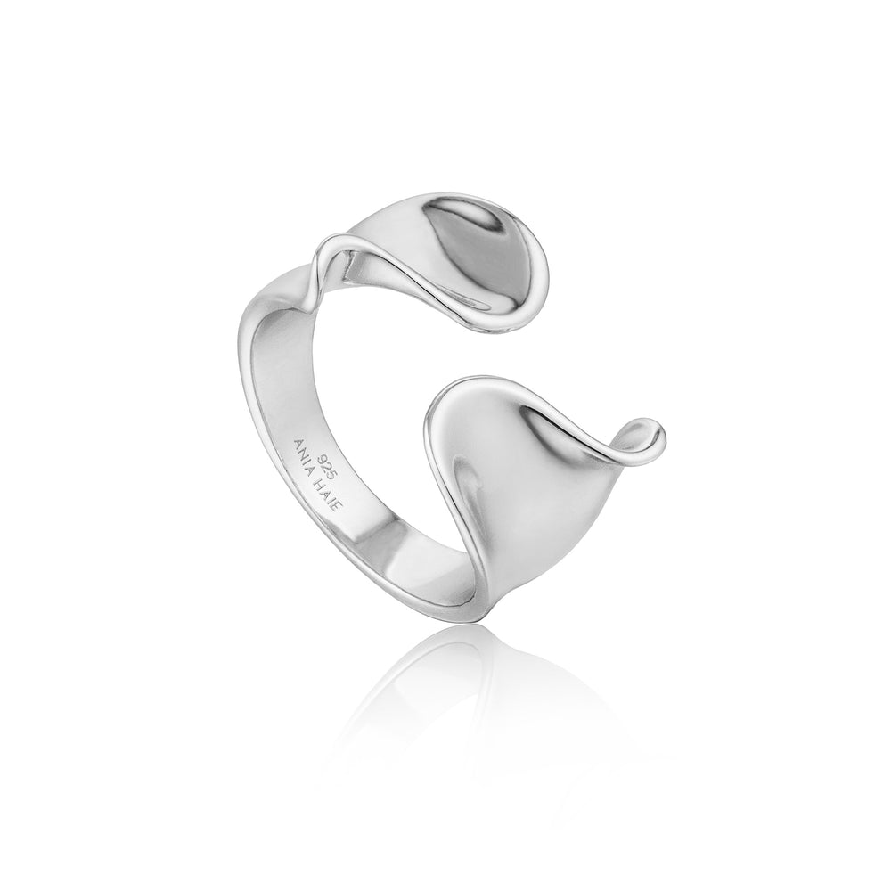 Silver Twist Wide Adjustable Ring