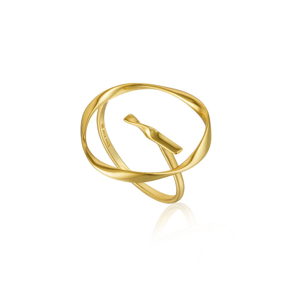 Gold Twist Circle Adjustable Ring