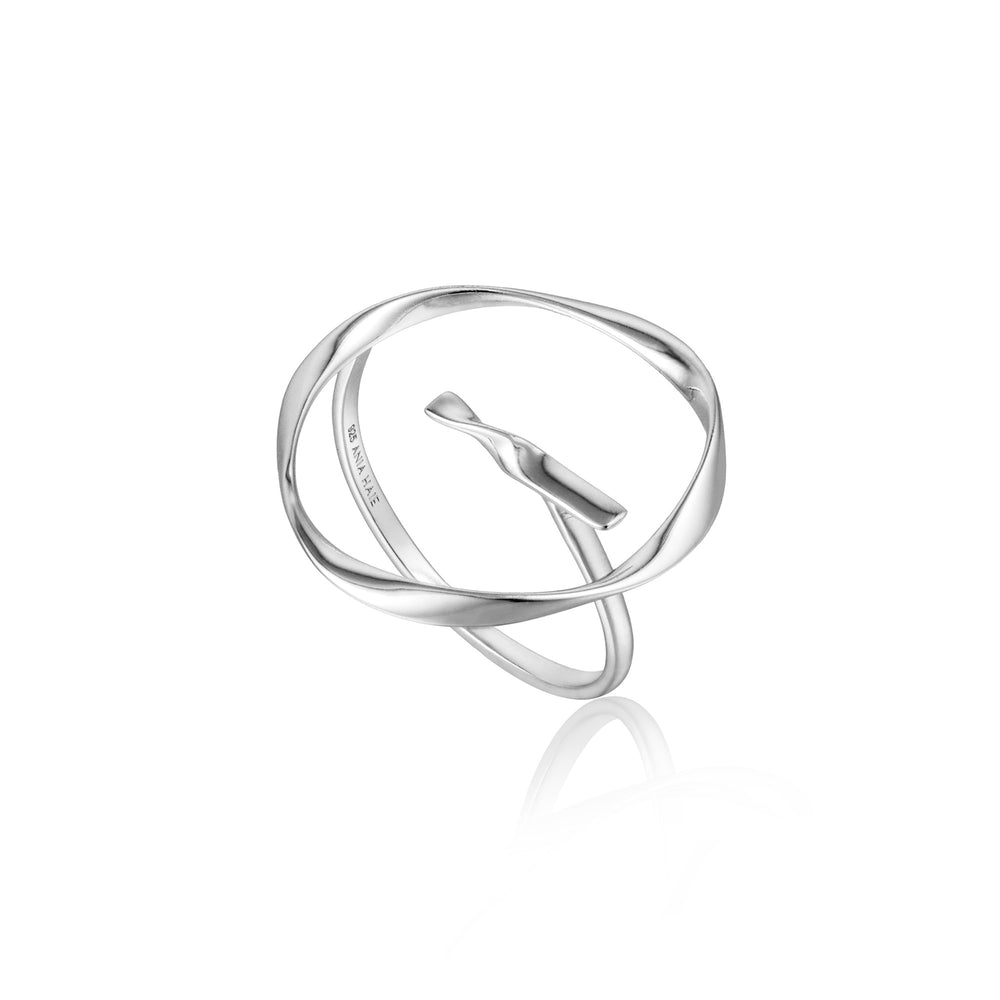 Silver Twist Circle Adjustable Ring