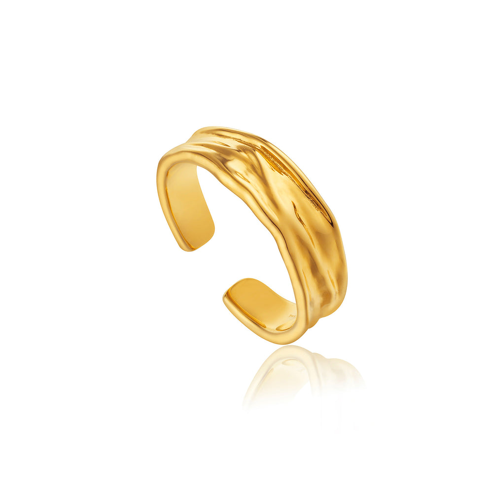 Gold Crush Adjustable Ring
