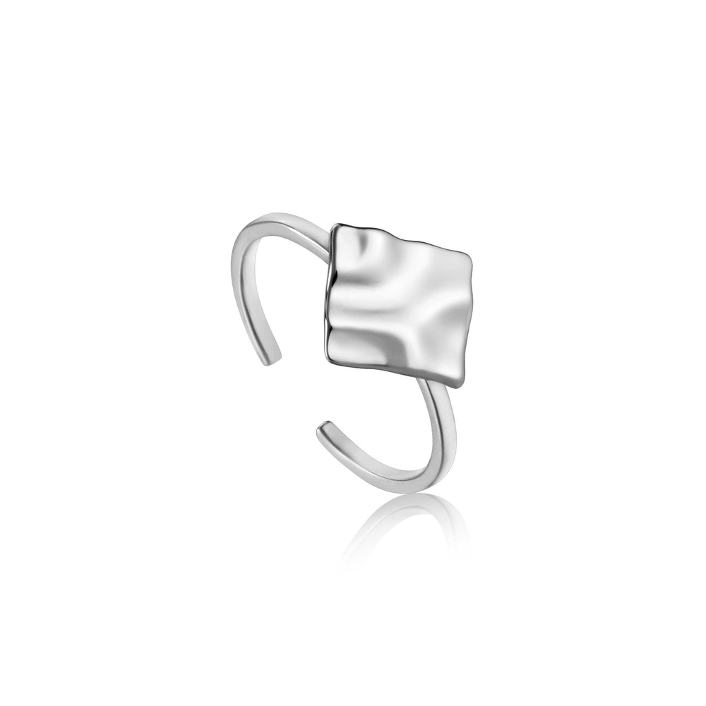 Silver Crush Square Adjustable Ring
