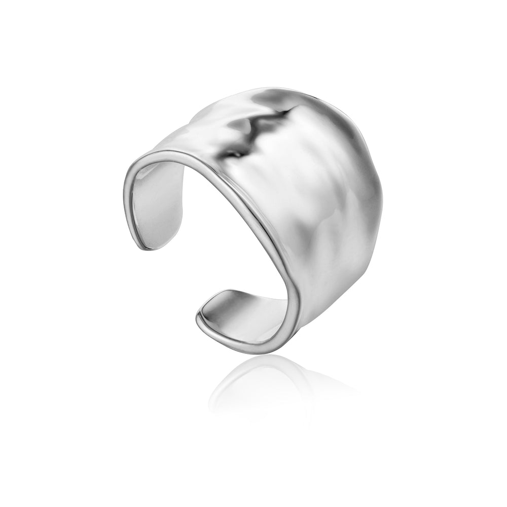 Silver Crush Wide Adjustable Ring