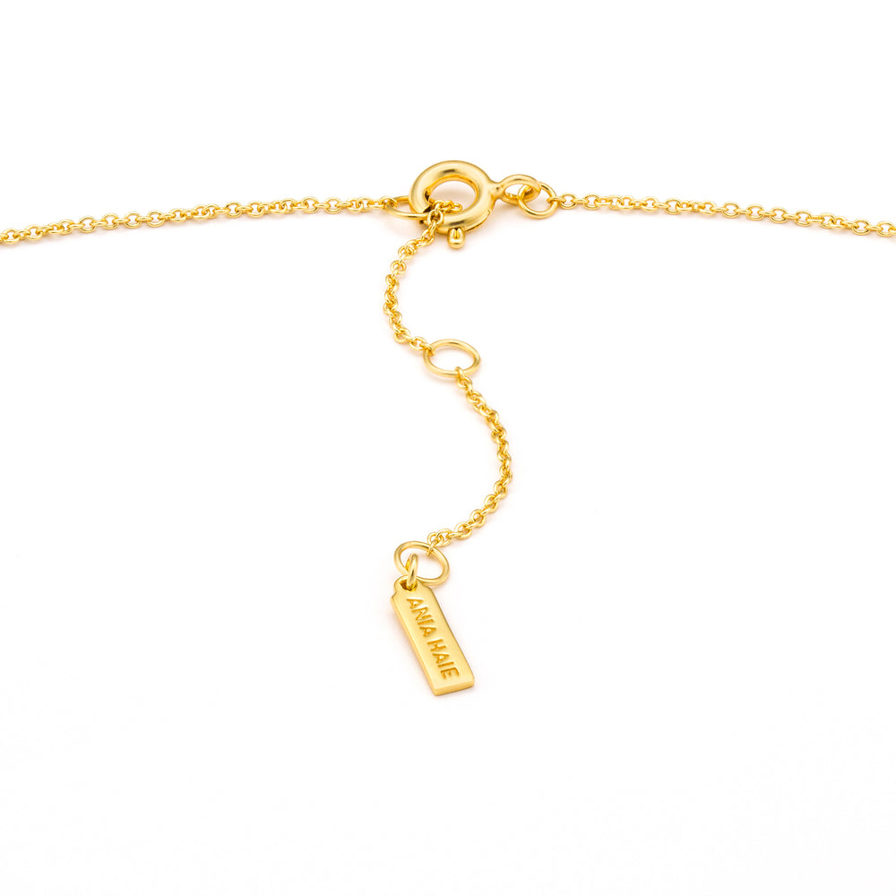 Gold Texture Solid Bar Necklace