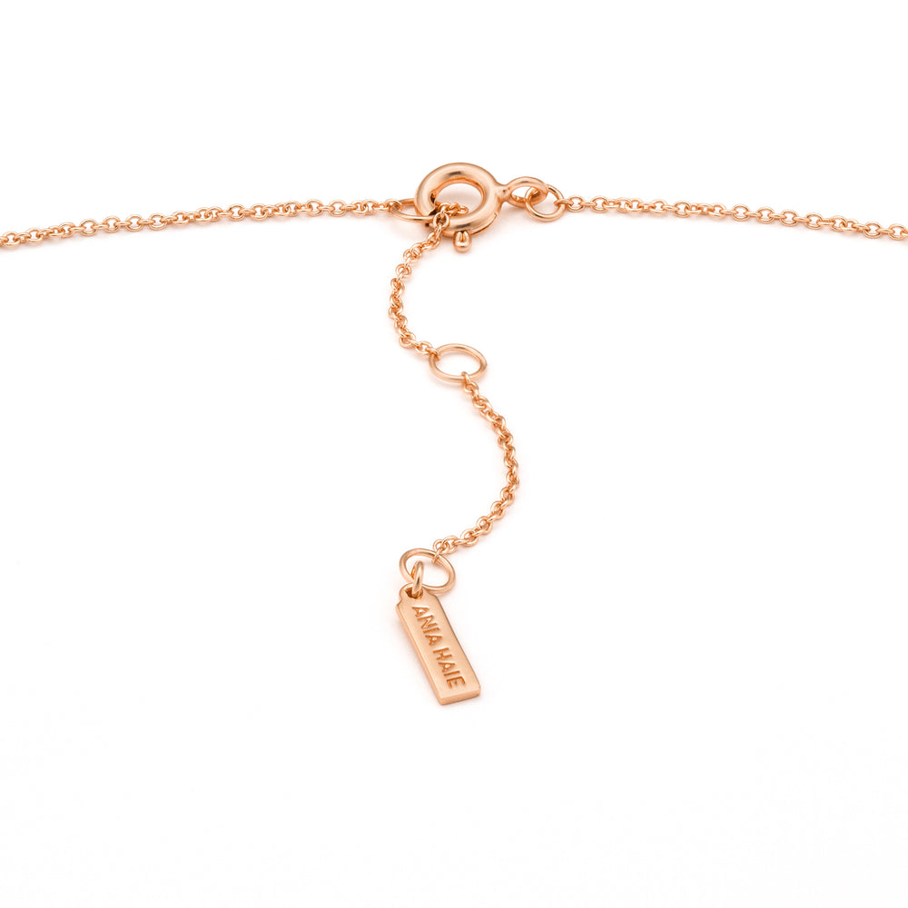 Rose Gold Texture Solid Bar Necklace