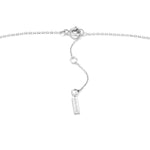 Silver Links Lariat Necklace