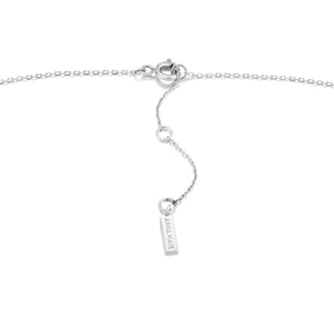 Silver Glow Solid Bar Necklace