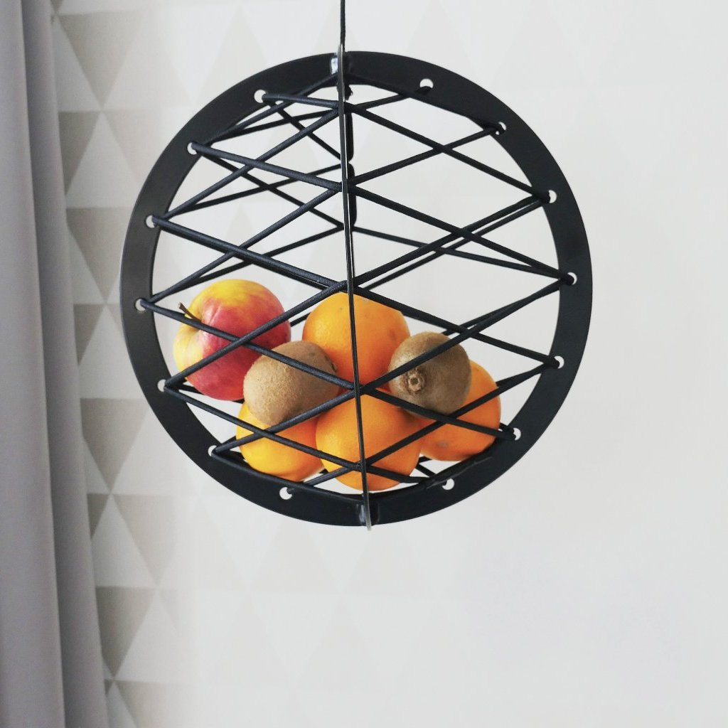 Pluk - The Hanging Fruit Basket, Black