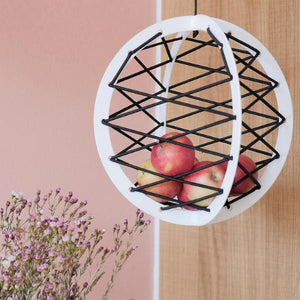 Pluk - The Hanging Fruit Basket, white