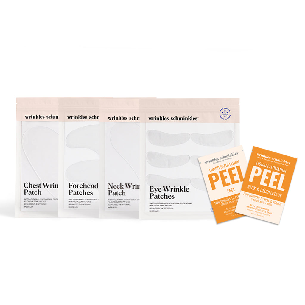 Silicone patches for wrinkles skin smoothing