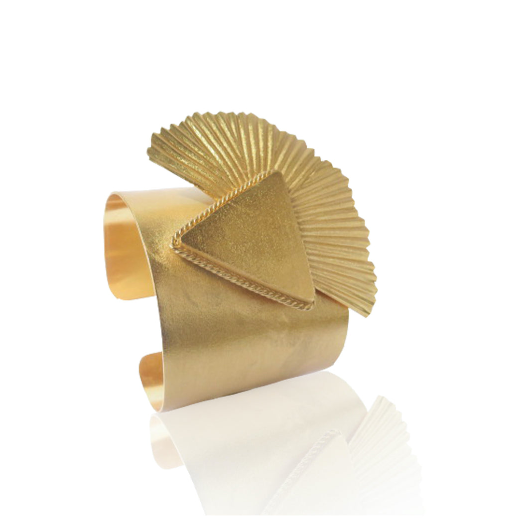 Large adjustable cuff that will take anyone's breath away by Paulina Echeverri. Made in Colombia.