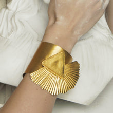 Load image into Gallery viewer, Large adjustable cuff that will take anyone's breath away by Paulina Echeverri. Made in Colombia.
