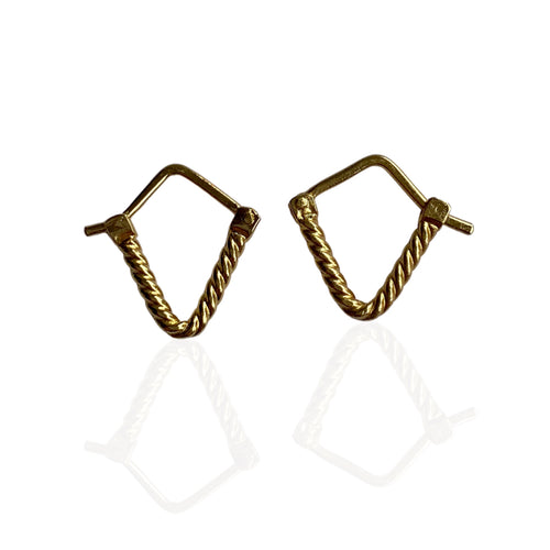 A variation of our Mulier Dies Earrings now you can stack them by Paulina Echeverri. Made in Colombia.