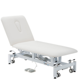 Addax Practice Manager Electric Treatment Couch - 2 Sections - White