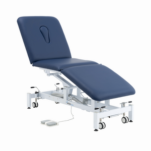 Electric Examination Couch - 3 Sections - Blue - Addax Medical Treatment Couch