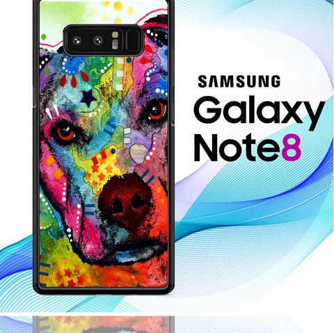 Pitbull Love Painting Samsung Galaxy Note 8  Case