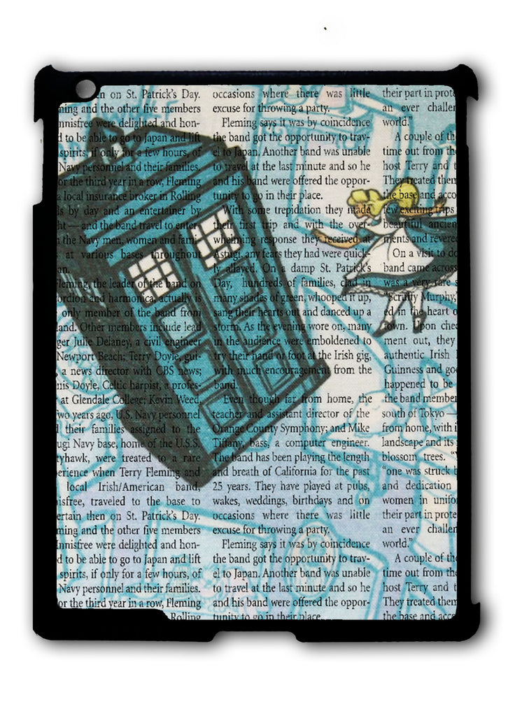 Alice In Wonderland, Tardis Doctor Who iPad 2 3 4, iPad Mini 1 2 3 , iPad Air 1 2, iPad Pro 9.7 12.9 Case