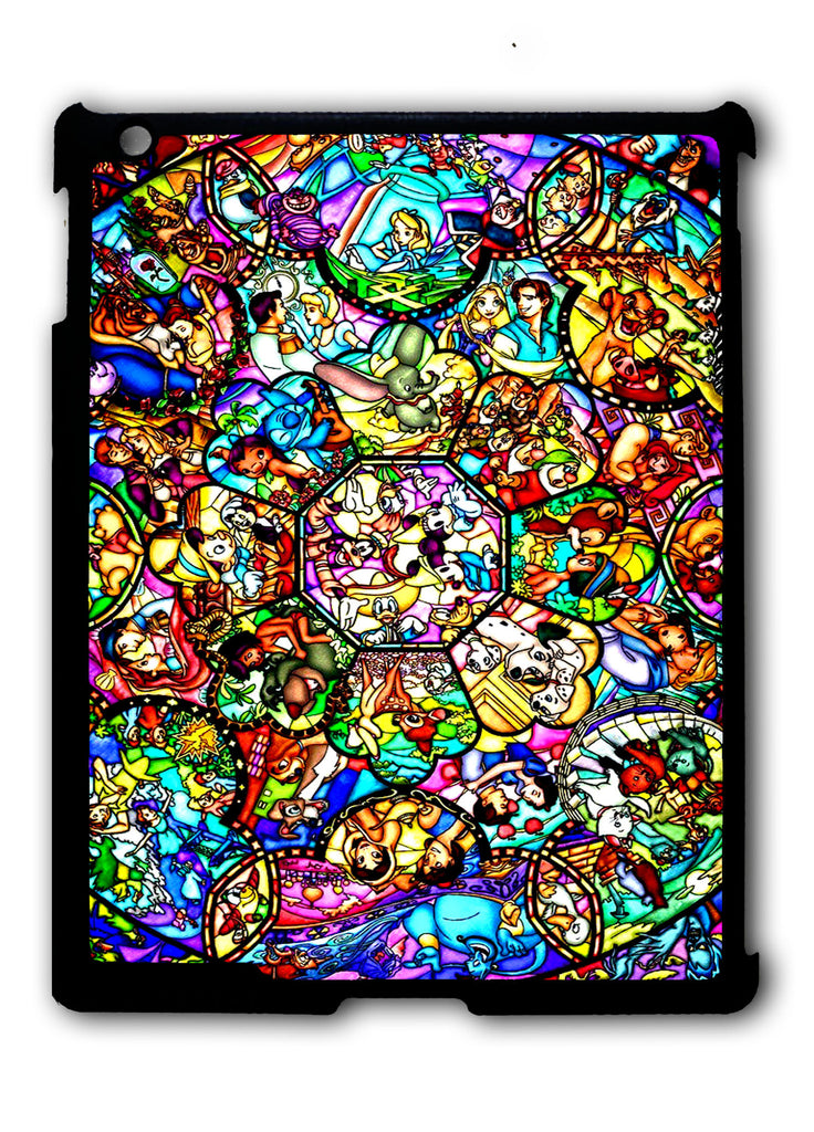 All Characters Disney Stained Glass iPad 2 3 4, iPad Mini 1 2 3 , iPad Air 1 2, iPad Pro 9.7 12.9 Case