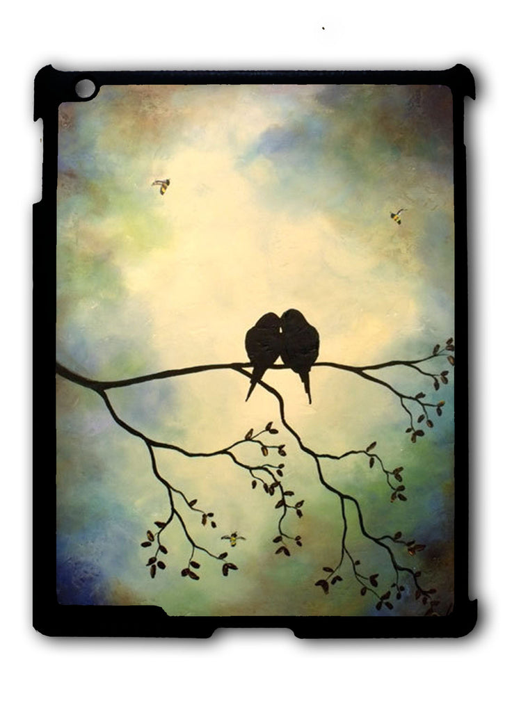 Birds In Tree Branch iPad 2 3 4, iPad Mini 1 2 3 , iPad Air 1 2, iPad Pro 9.7 12.9 Case
