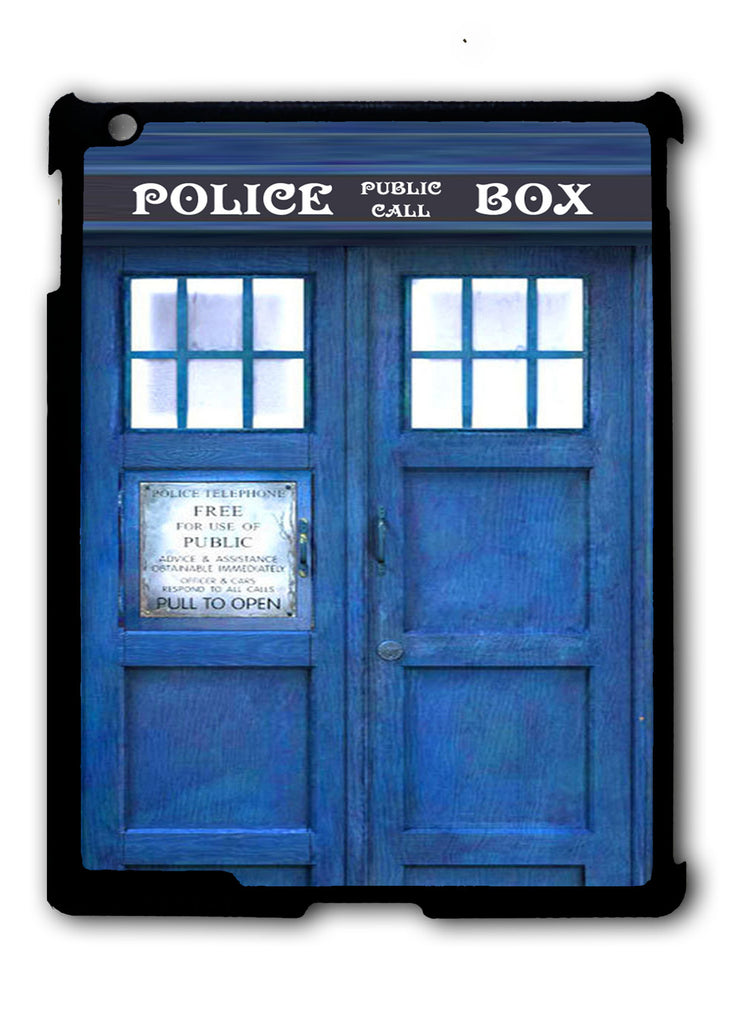 Blue Police Call Box Tardis iPad 2 3 4, iPad Mini 1 2 3 , iPad Air 1 2, iPad Pro 9.7 12.9 Case
