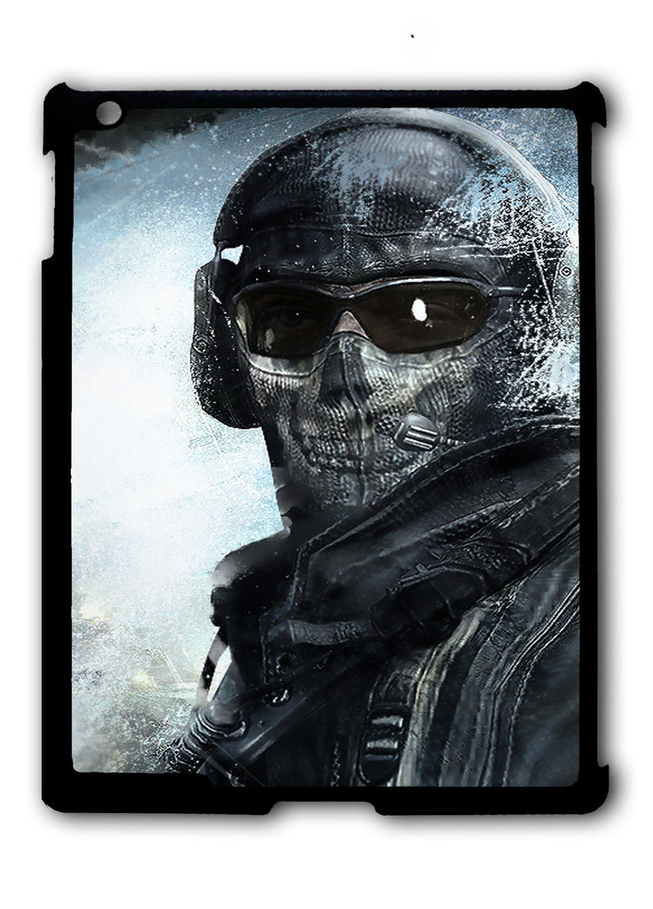 Call Of Duty Ghost Mask iPad 2 3 4, iPad Mini 1 2 3 , iPad Air 1 2, iPad Pro 9.7 12.9 Case