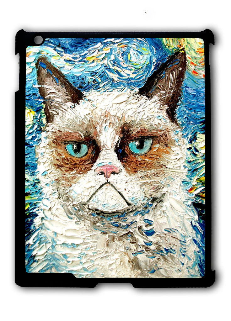 Cat Meets Starry Night iPad 2 3 4, iPad Mini 1 2 3 , iPad Air 1 2, iPad Pro 9.7 12.9 Case