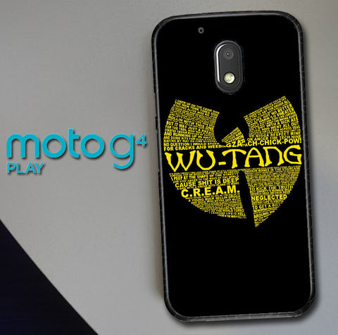 Wu Tang Quote Logo Motorola Moto G4 Play  Case