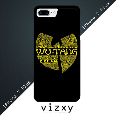 Wu Tang Quote Logo iphone 7 Plus Plus Case
