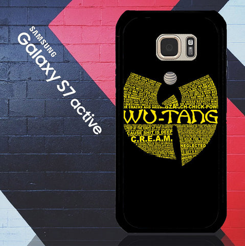 Wu Tang Quote Logo Samsung Galaxy S7 Active  Case