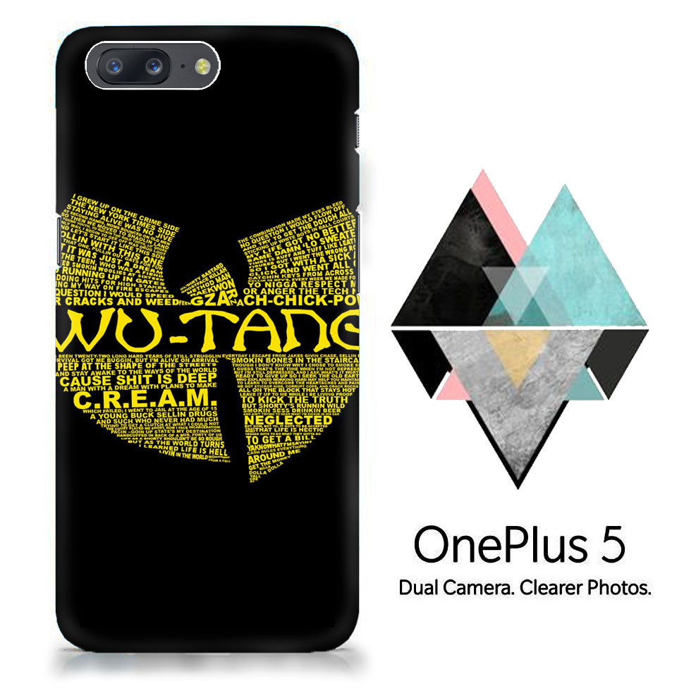 Wu Tang Quote Logo One Plus X, 2, 3, 3T, 5 Full Wrap Print 3D  Case