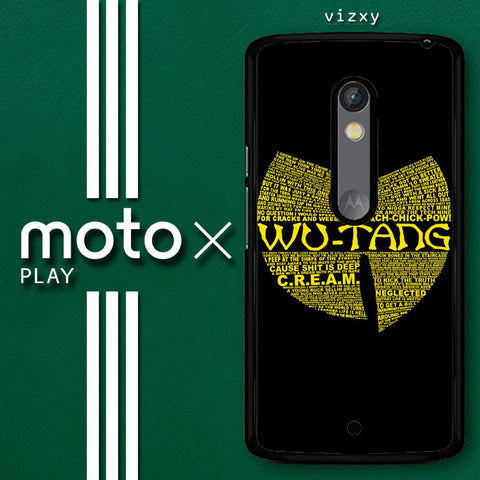 Wu Tang Quote Logo Motorola Moto X Play  Case