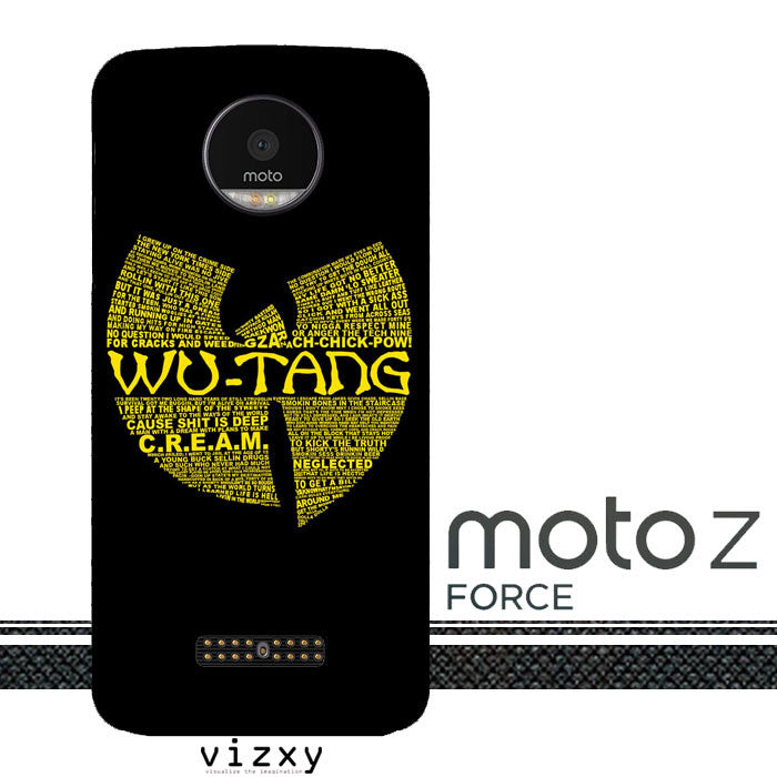 Wu Tang Quote Logo Motorola Moto Z Force  Case