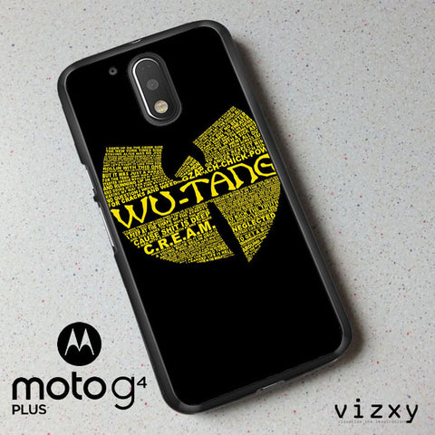 Wu Tang Quote Logo Motorola Moto G4 | G4 Plus  Case