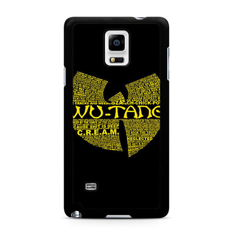 Wu Tang Quote Logo Samsung Galaxy Note 4 Case