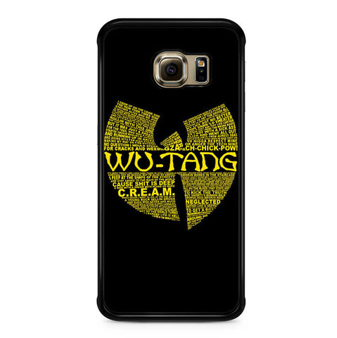 Wu Tang Quote Logo Samsung Galaxy S6 Edge Case
