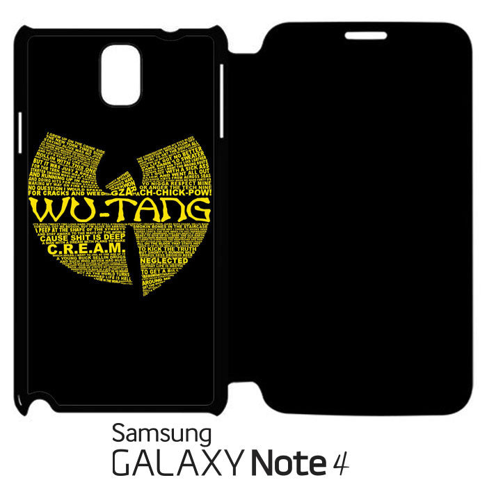 Wu Tang Quote Logo Samsung Galaxy Note 4 Leather Flip  Case