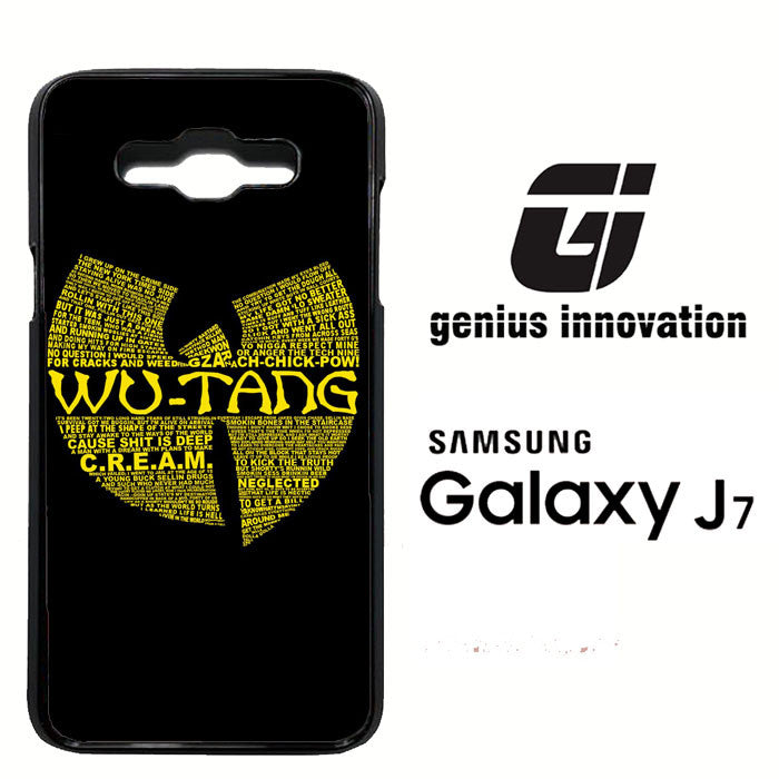 Wu Tang Quote Logo Samsung Galaxy J7  Case