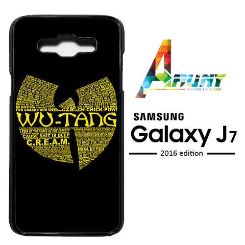 Wu Tang Quote Logo Samsung Galaxy J7 2016 / SM-J710  Case