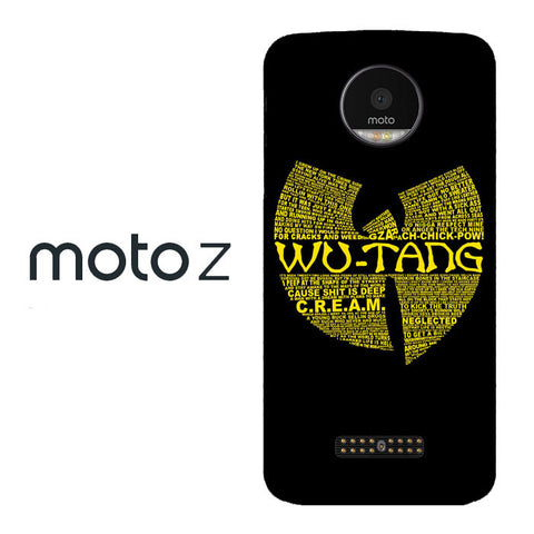 Wu Tang Quote Logo Moto Z  Case