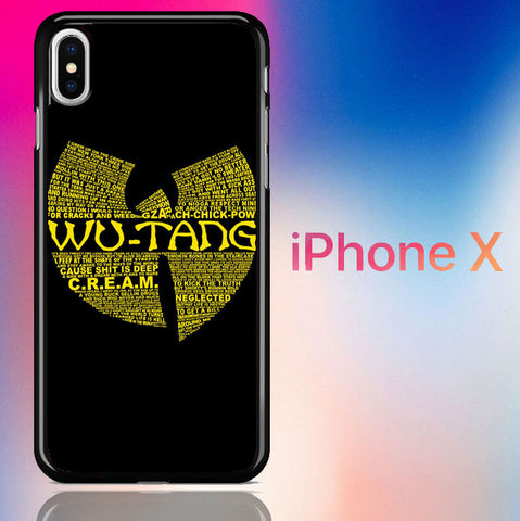 Wu Tang Quote Logo iPhone X  Case