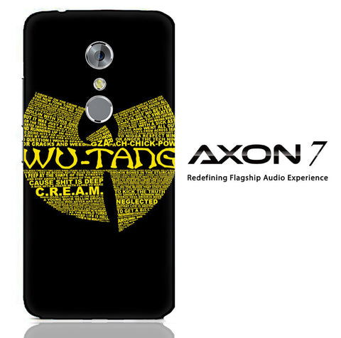 Wu Tang Quote Logo ZTE Axon 7 3D Full Print  Case