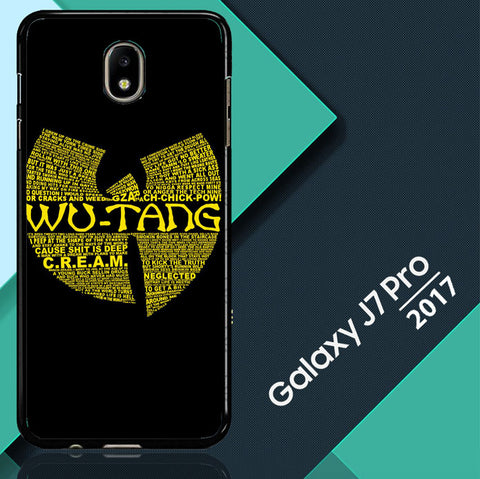 Wu Tang Quote Logo Samsung Galaxy J7 Pro 2017   Case