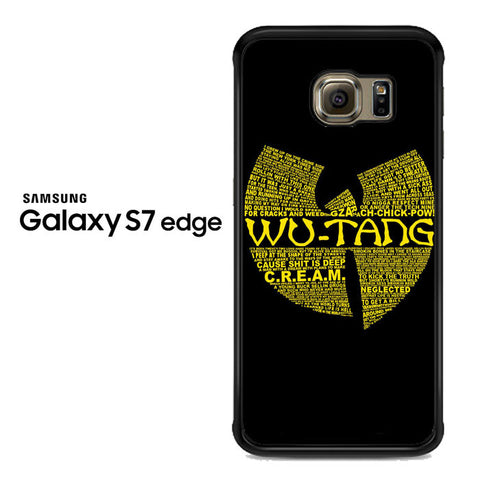 Wu Tang Quote Logo Samsung Galaxy S7 Edge Case