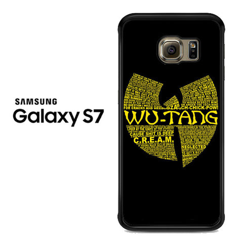 Wu Tang Quote Logo Samsung Galaxy S7 Case