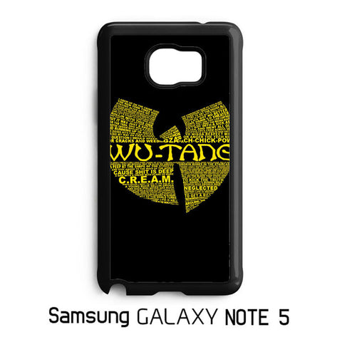 Wu Tang Quote Logo Samsung Galaxy Note 5 Case