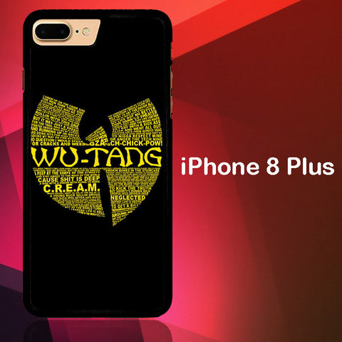 Wu Tang Quote Logo iPhone 8 Plus  Case