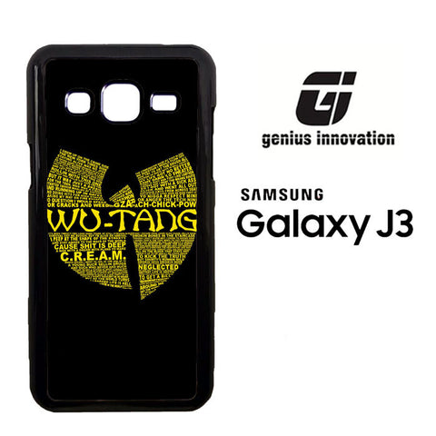 Wu Tang Quote Logo Samsung Galaxy J3  Case