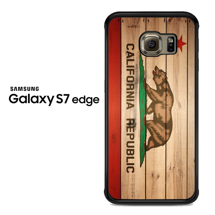 california republic state flag wood Samsung Galaxy S7 Edge Case